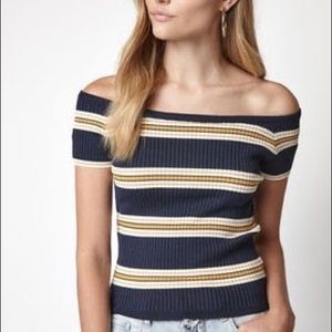 Off the Shoulder Sweater Shirt